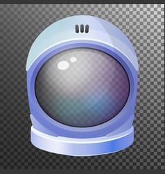 Space astronaut helmet cosmonaut mask spacesuit vector