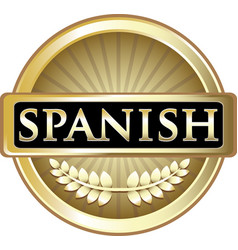 Spanish gold icon vector