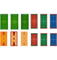 Sport fields and courts vector