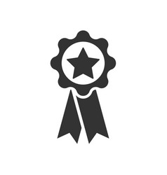 Star ribbon icon vector