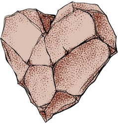 Stone heart vector image