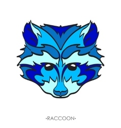 Stylized Raccoon Sketch for tattoo vector