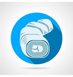 Sushi rolls flat round icon vector image