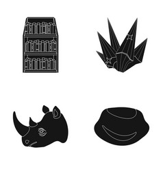 training animal and or web icon in black style vector image