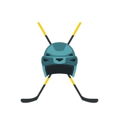 Two crossed hockey sticks icon vector