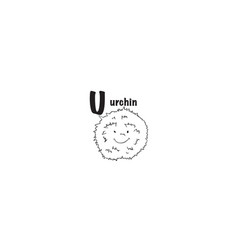 urchin coloring page vector image