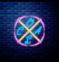 vintage coal mining emblem vector image