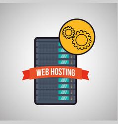 web hosting design data center icon isolate vector image