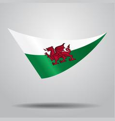 Welsh flag background vector