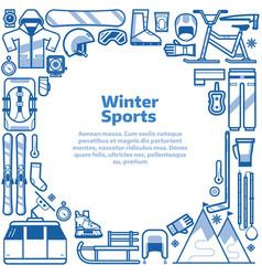 winter sports lifestyle border frame vector image