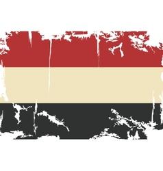 Yemen grunge flag vector