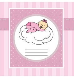 Baby sleeping on a cloud vector image vector image