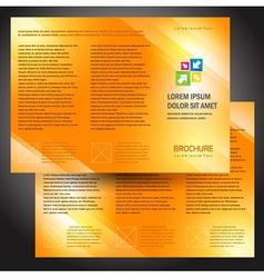 brochure folder colorful design orange vector image vector image