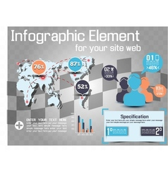 INFOGRAPHIC MODERN STYLE WEB ELEMENT 2 vector image vector image