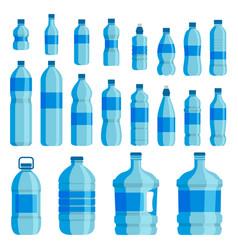 plastic bottle water set vector image