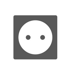 power socket icon black simple style vector image