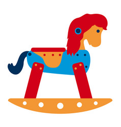 rocking horse toy vector image vector image