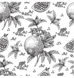 seamless pattern hand drawn sketch style vector image