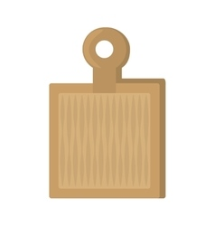 wooden cutting board kitchen and cooking utensils vector image