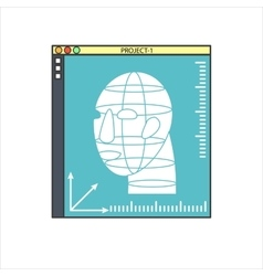 3d bio-printers with human head vector
