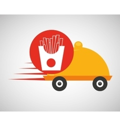 fast delivery food french fries vector image vector image