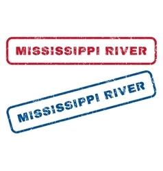 Mississippi river rubber stamps vector