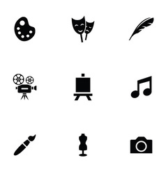 art 9 icons set vector image