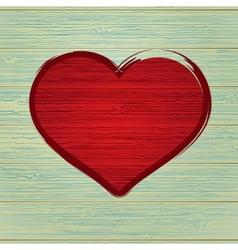 Drawing love symbol on old wooden EPS8 vector image vector image