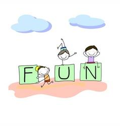 hand drawing cartoon character happy kids vector image vector image