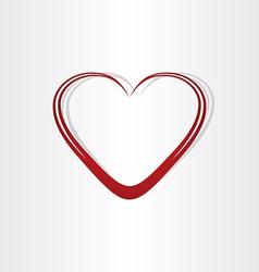 heart shape text box frame vector image vector image