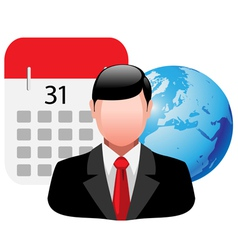 people business icon vector image vector image