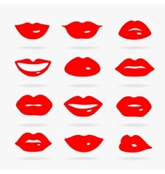 Set of Symbols Lips vector image