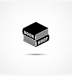 book shop logo vector image