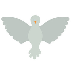 pigeon peace front view on colorful silhouette vector image vector image