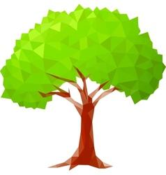 polygonal tree vector image vector image