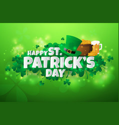 realistic stpatricks day background and banner vector image vector image
