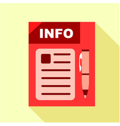 red info board icon flat style vector image