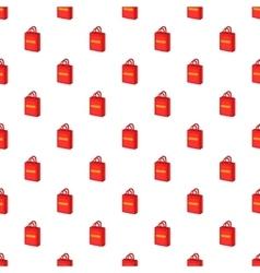 Shopping bag pattern cartoon style vector image vector image