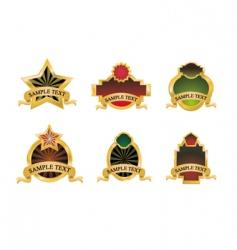 vintage gold emblems vector image