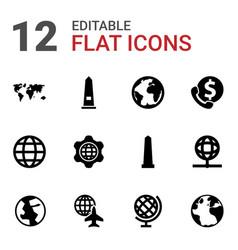 12 america icons vector