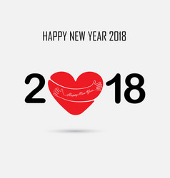 2 0 1 8 and hand sign with holiday background vector image