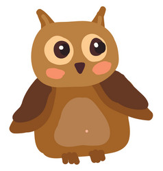 An owl with shinny eyes or color vector