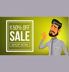 arab man banner traditional national vector image