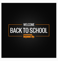back to school line logo background vector image