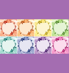 background design with flower frames in eight vector image