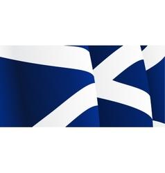 background with waving scottish flag vector image