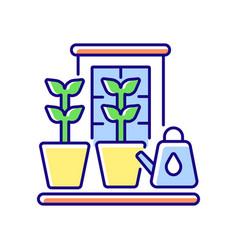 Balcony garden rgb color icon vector