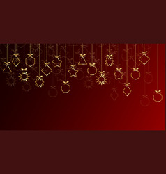 banner 2020 happy new year gold christmas balls vector image