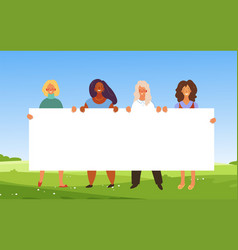 banner with women different nationalities vector image