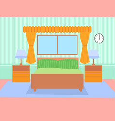 bed room concept flat design icon objects on vector image